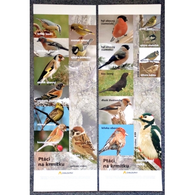 Ptáci na krmítku - dva plakáty (I. Suchá, foto V. Křivan)